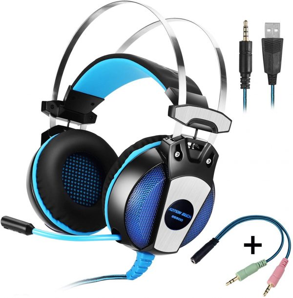 KOTION EACH GS500 3.5mm Gaming Headset Game Headphone Earphone Headband with Mic Stereo Bass for PS4 PC Computer Laptop Mobile Phones