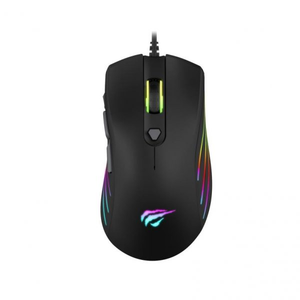 GAMENOTE MS1002 7 Buttons Programmable Software Rgb Gaming Mouse - 7200Dpi