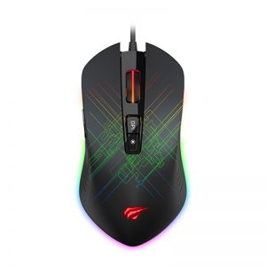 HAVIT GAMENOTE MS1019 RGB Backlit Programmable Gaming Mouse - 7 Buttons, 4800 DPI