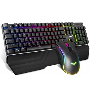 HAVIT GAMENOTE HV-KB389L RGB GAMING COMBO - RGB Mechanical Gaming Keyboard and Gaming Mouse