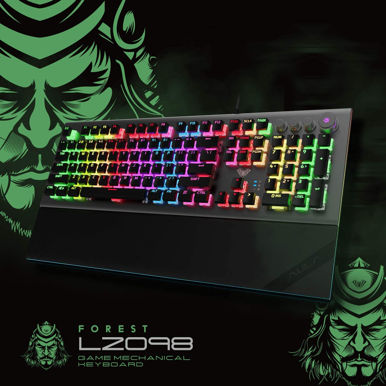 AULA-L2098-RGB-Keyboard-Gaming-Mechanical-Keyboard-Blue-Switch-Wired-Anti-ghosting-Crystal-Backlit-Keyboard