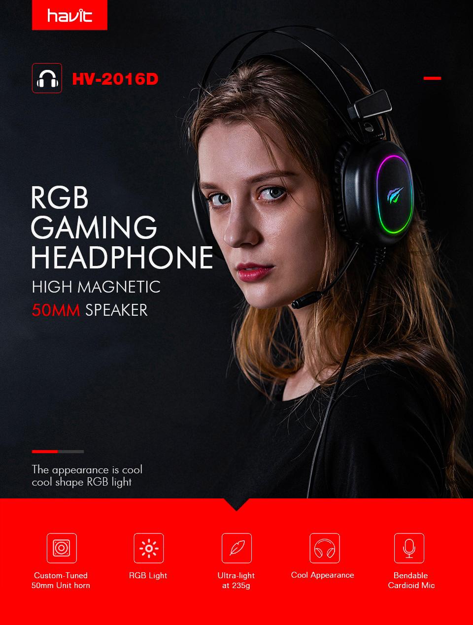 HAVIT Gamenote Gaming Headphone H2016d