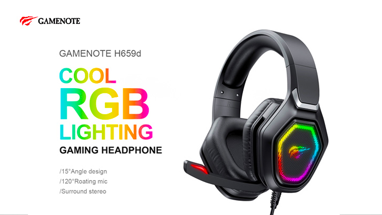 HAVIT Gamenote H659D 3.5MM RGB Led Gaming Headset
